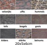 20x5x6cm 9 kleurnuances