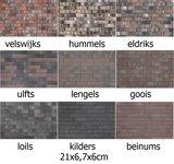 20x6,7x6cm 9 kleurnuances
