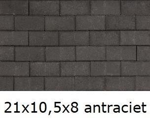 21x10,5x8cm antraciet