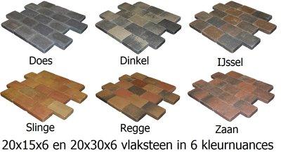 trommelstenen 20x30x6 20x15x6