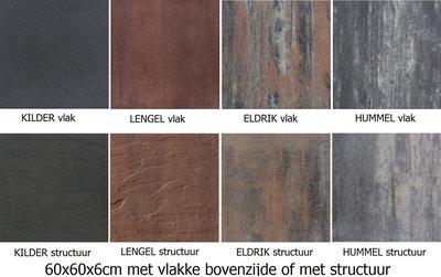 terrastegels ░ 60x60x6 60x30x6 vlak of structuur, 4 kleuren