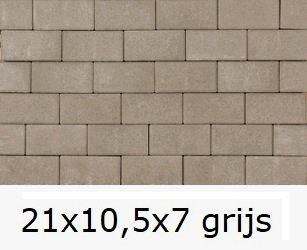 21x10,5x7cm grijs