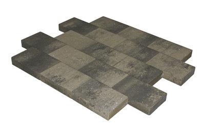 vlaksteen 20x30x6cm grijs-zwart