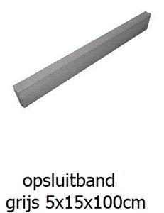 opsluitbanden 5x15x100cm grijs