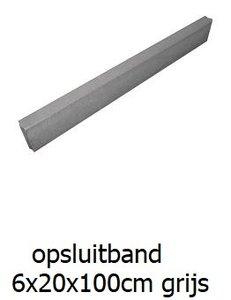 opsluitband 6x20x100cm grijs