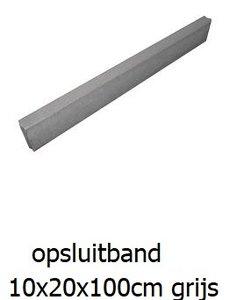 betonband 10x20x100cm grijs
