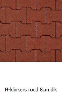 H-klinkers rood 8cm dik 20x16,4/11,7x8cm
