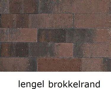 12x12x60cm stapelblok wallblock lengel brons brokkelrand