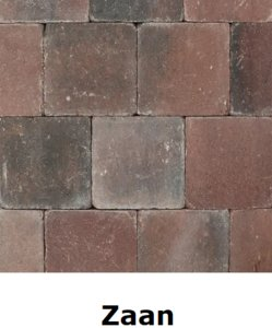 metro trommelsteen 15x15x6cm rood genuanceerd Zaan