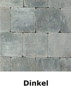 metro trommelsteen 15x15x6cm grijs zwart Dinkel