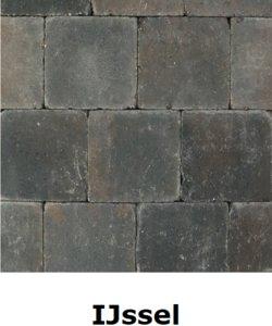 metro trommelsteen 15x15x6cm bruin zwart IJssel