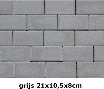 21x10,5x8cm grijs volledige kleuring