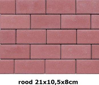 21x10,5x8cm rood volledige kleuring