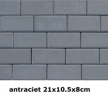 21x10,5x8cm antraciet volledige kleuring