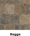 metro trommelsteen 15x15x6cm brons genuanceerd Regge