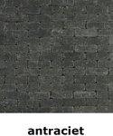 metro trommelsteen 15x5x7,5cm antraciet