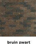 metro trommelsteen 15x5x7,5cm bruin zwart