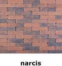20x5x7cm kobblestone tuinvisie bruin-zwart narcis