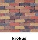 20x6,5x6,5cm kobblestone tuinvisie bont krokus