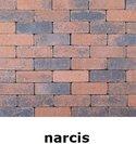 20x6,5x6,5cm kobblestone tuinvisie bruin-zwart narcis